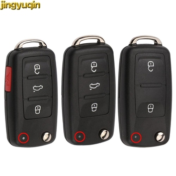 Jingyuqin remoto clave Shell para VW Volkswagen Jetta Golf 3 4 5 Passat B5 B5.5 B6 Tiguan, Beetle Polo Bora Anahtar SKODA
