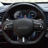High Quality Cowhide Top Layer Leather handmade Sewing Steering wheel covers For Great Wall Haval F5 F7 F7X