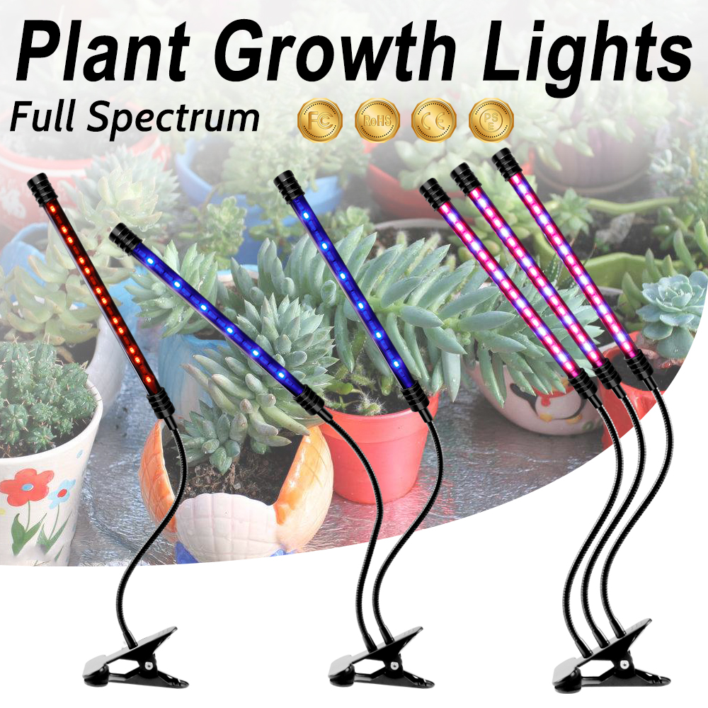 LED Phyto Lamp USB Full Spectrum Dimmable LED Grow Light Plant Lamp For Indoor Seedlings Flower Fitolampy Grow Tent Plant Light