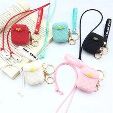 For AirPod 2 Case 3D Diamond Lady Girl Handbag Bag Cartoon Soft Silicone Earphone Cases Apple Airpods Cute Cover Funda