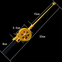 Portable Mini Ice Fishing Rod with Wheel 33cm Solid PlasticJoint Shrimp Line Winter Tackle Pole