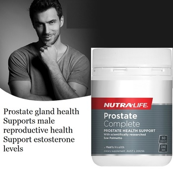 NutraLife Prostate Urinary Tract Capsules Male Tonic Zinc Men Sexual Vigor Sperm Reproductive BPH Health Dietary Supplement image