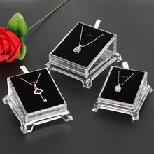 Acrylic transparent necklace display shelf jewelry jade play pendant holder counter window platform