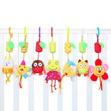 Lovely Baby Cradle Seat Cot Hanging Toys Portable baby rattle toys Hanging Bells Toys Rattles For Babies Car Cot Hanging Toys(China)