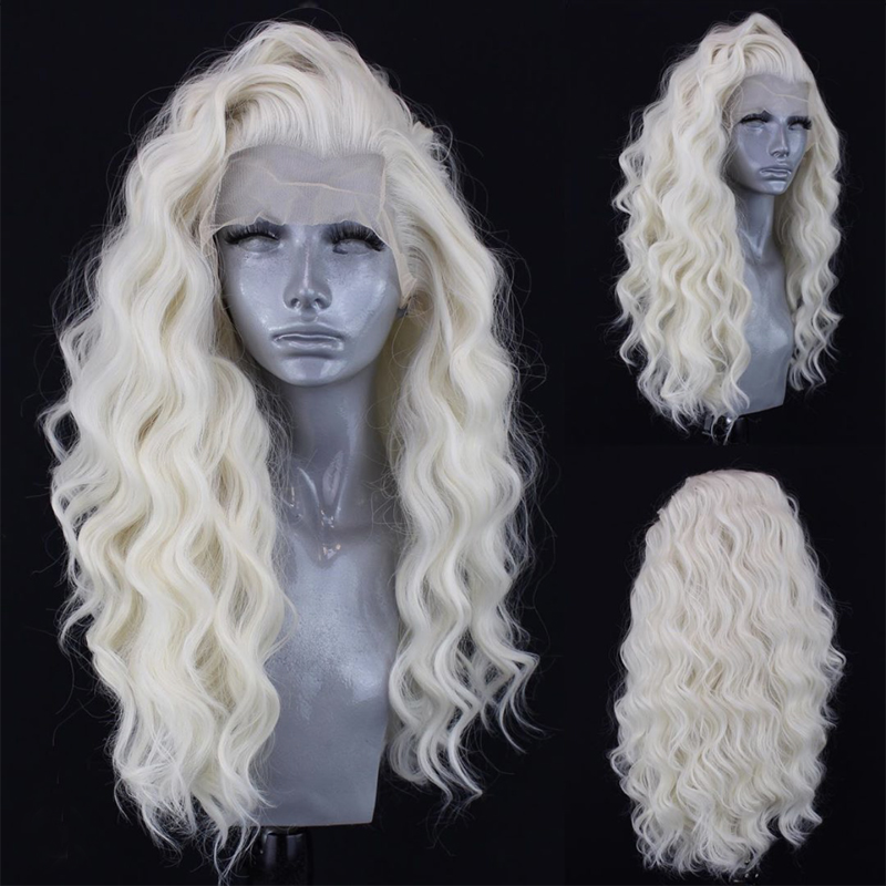 Charisma Long Body Wave Wig High Temperature Fiber Color 60 Blonde Wig Synthetic Lace Front Wig Natural Hairline