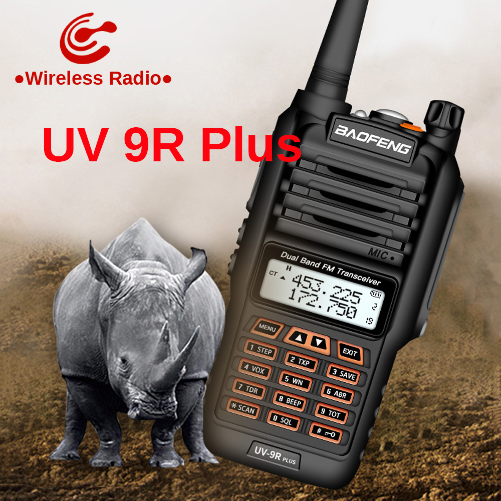 Powerful Baofeng UV-9R Plus 10km 50km  Walkie Talkie Two Way Radio Vhf Uhf Ham Radio Long Range CB Radio Station