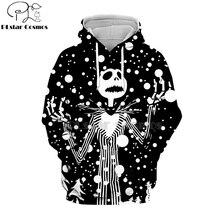 PLstar Cosmos jack skellington Jack Sally 3d hoodies/shirt/Sweatshirt Winter Nightmare Before Christmas Halloween streetwear-39
