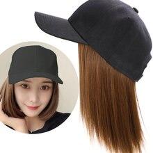Ониксовая короткая бейсбольная кепка парик из волос 8 дюймов