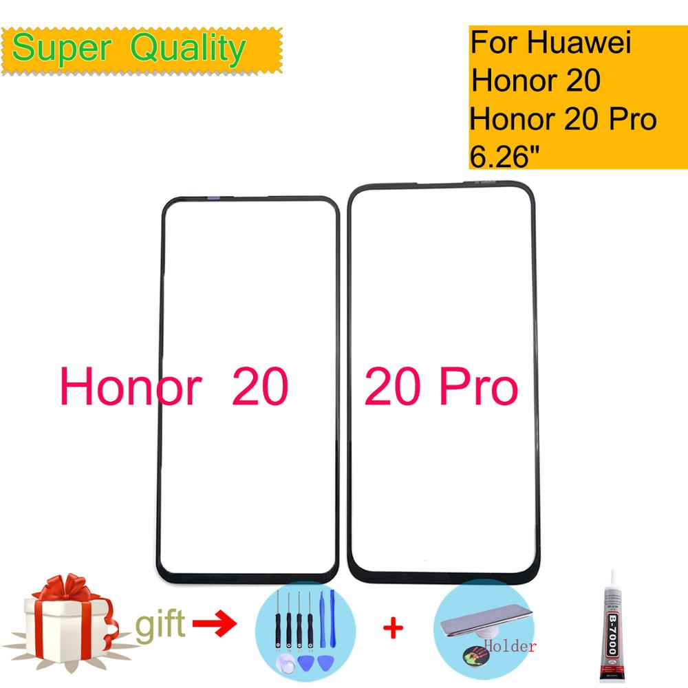 For Huawei Honor 20 YAL-L21 Touch Screen Touch Panel Front Outer Glass For Honor 20 PRO LCD Glass Lens Replacement