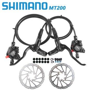 Shimano br bl mt200 freio de bicicleta mtb freio a disco hidráulico 800/900/1350/1450/1550mm montanha braçadeira freios atualizado mt315