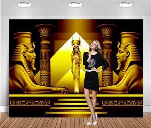Фоны для фотосъемки с золотой древней египетской тематикой, вечерние фоны королевы, Фотофон