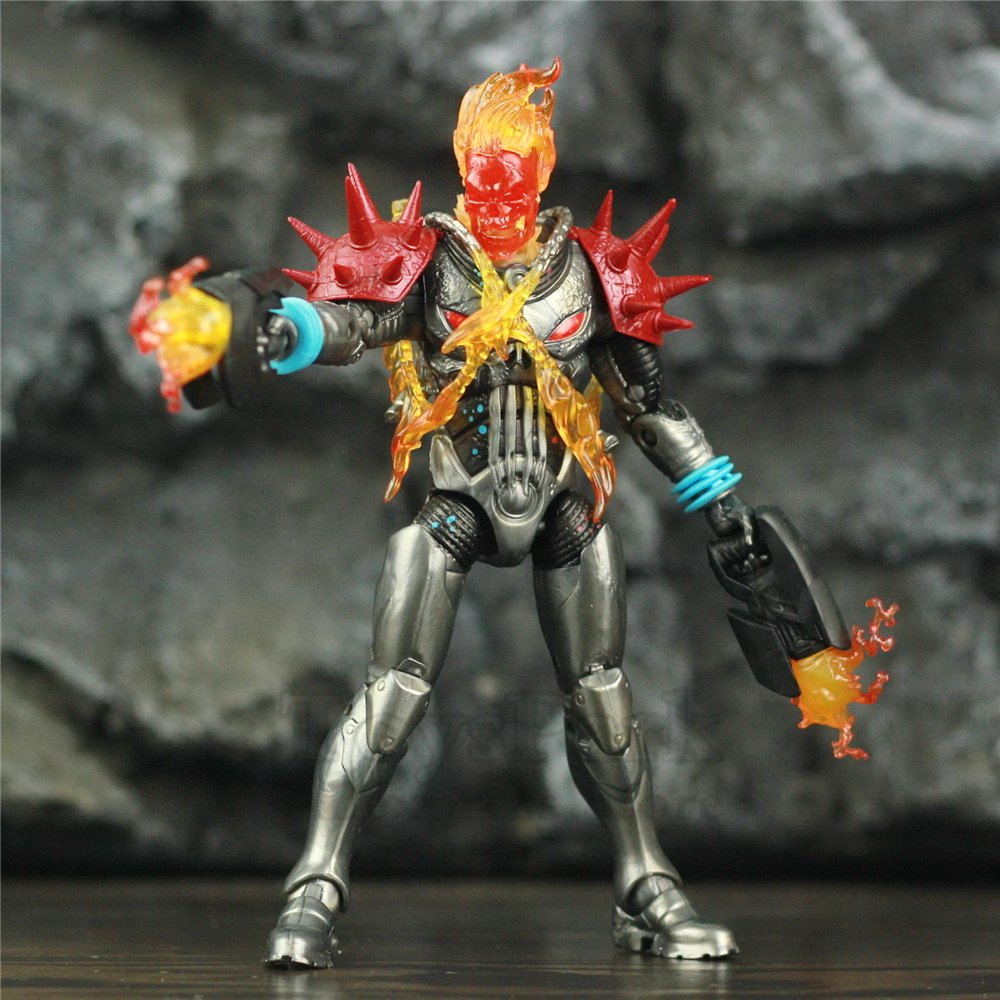 """Image 3 - Marvel Legends Cosmic Ghost Rider 6"""" Action Figure Fire Whip Without Motorbike From Vehicle Set Riders Series Original Toys DollAction & Toy Figures   -"""