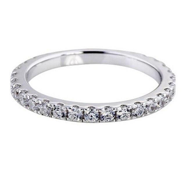 Original S925 Silver Sterling Diamond Ring for Women Full Drilled White Topaz Bizuteria Anillos Gemstone Jewelry Diamond Rings