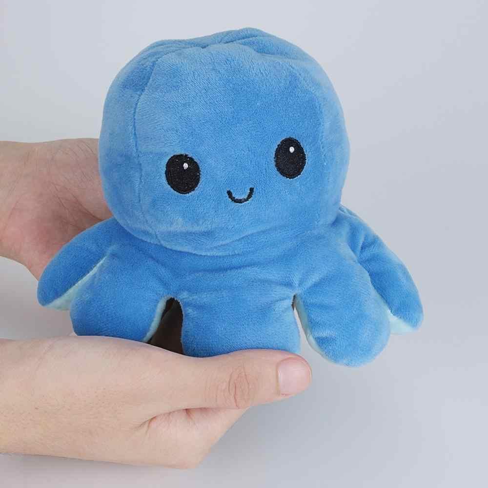 חמוד התהפך Octopu בובת הפיך קטיפה צעצוע צבע פרק כפול צדדי ביטוי ממולא צעצועי חג המולד מתנה בפלאש צעצוע קטיפה בובה