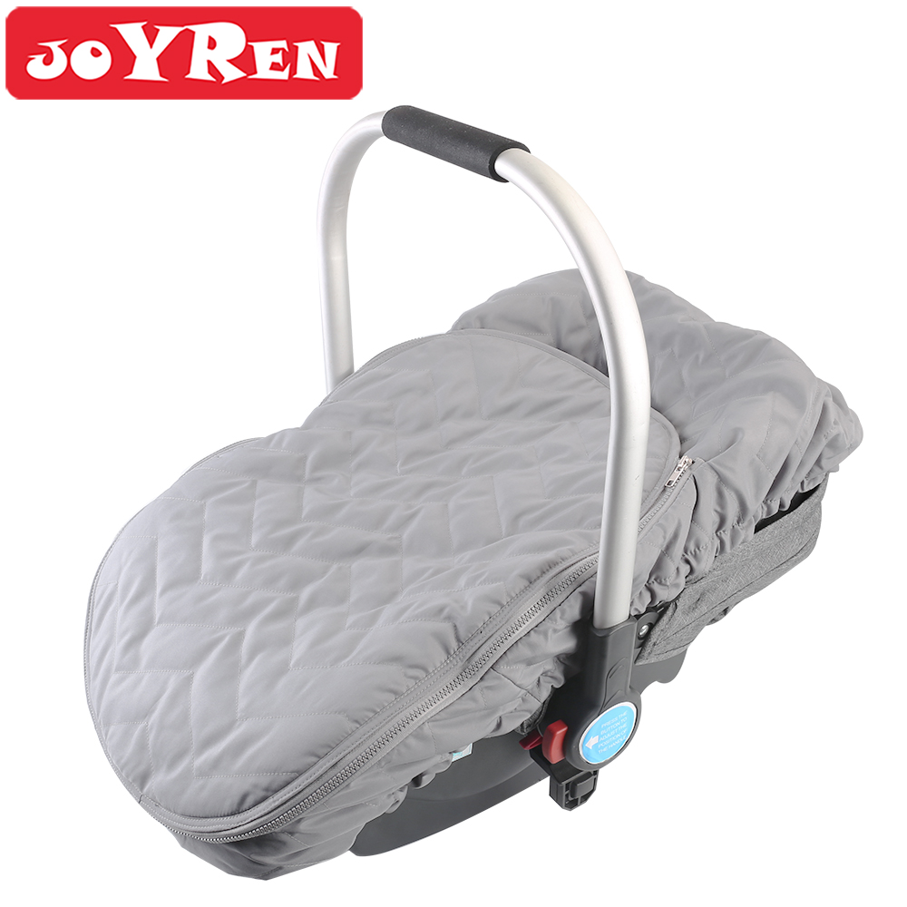 Baby Car Seat Canopy Zipper Opening Car Seat Cover Keeps Your Baby Toasty In Cold Winter Gray