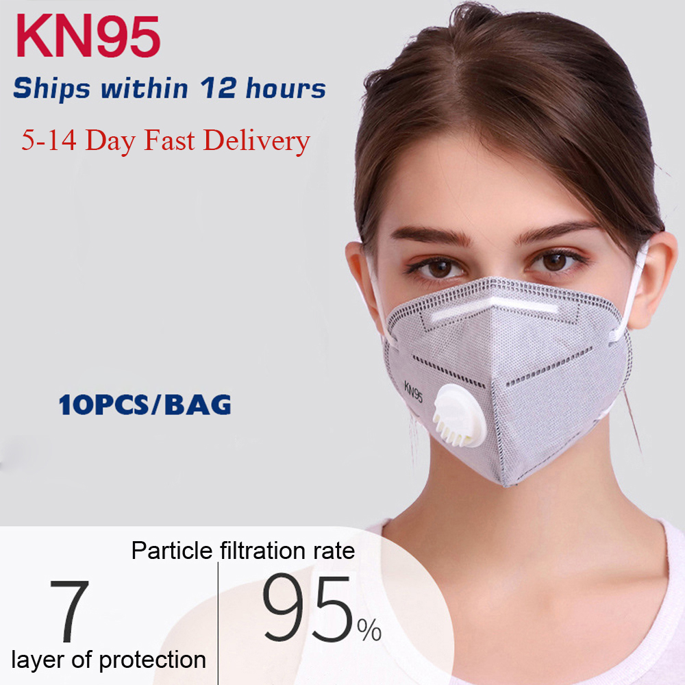 Fast Delivery KN95 10PCS KN95 Masks  Dustproof Anti-fog And Breathable Face Masks N95 95% Filtration Features As KF94 FFP2