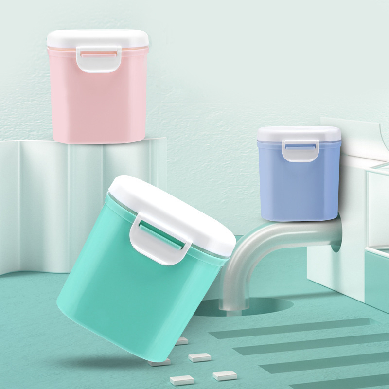 Baby Food Container Kids Food Storage Box Portable Travel Toddler Milk Powder Dispenser Leakproof Baby Formula Milk Storage Box