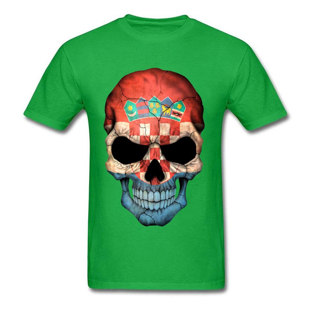 Croatian Flag Skull_green