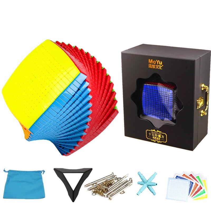 Cubo mágico de 15x15 DE MoYu, colección de calcomanías de rompecabezas de gran velocidad de 15 capas, cubo mágico, rompecabezas, juguetes para niños en caja de regalo Cubo mágico sin etiqueta MoYu 3x3x3 meilong, Cubo de rompecabezas, cubos de Velocidad Profesional, juguetes educativos para estudiantes