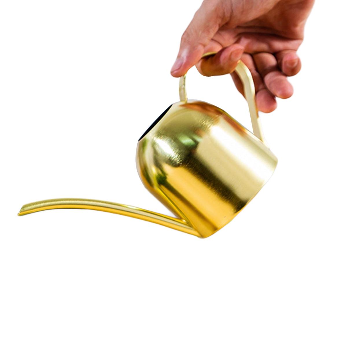 AA 500 мл полив горшок позолота нержавеющая сталь длинный рот современный стиль золотой спрей бутылка
