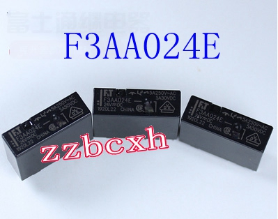 5PCS/LOT New original In Stock F3AA024E <font><b>24V</b></font> <font><b>4PIN</b></font> <font><b>5A</b></font> 250VAC image
