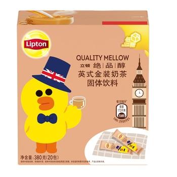 Free shipping 20 bags/box Lipton Leighton milk tea Excellent alcohol British gold ready-to-bag instant milk tea powder. недорого