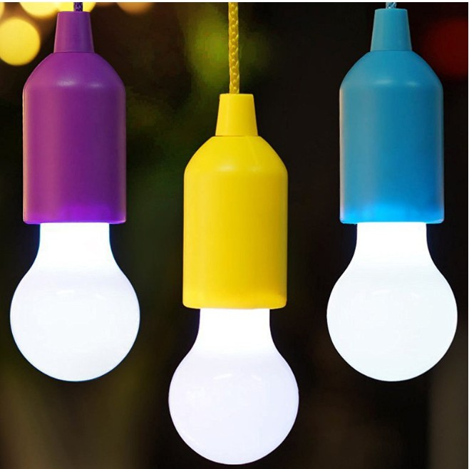Outdoor Camping LED Night Light Lamp T35 Mini Portable LED Pull Cord Light Bulb Stree Lighting Garden Hanging Emergency 4 Colors