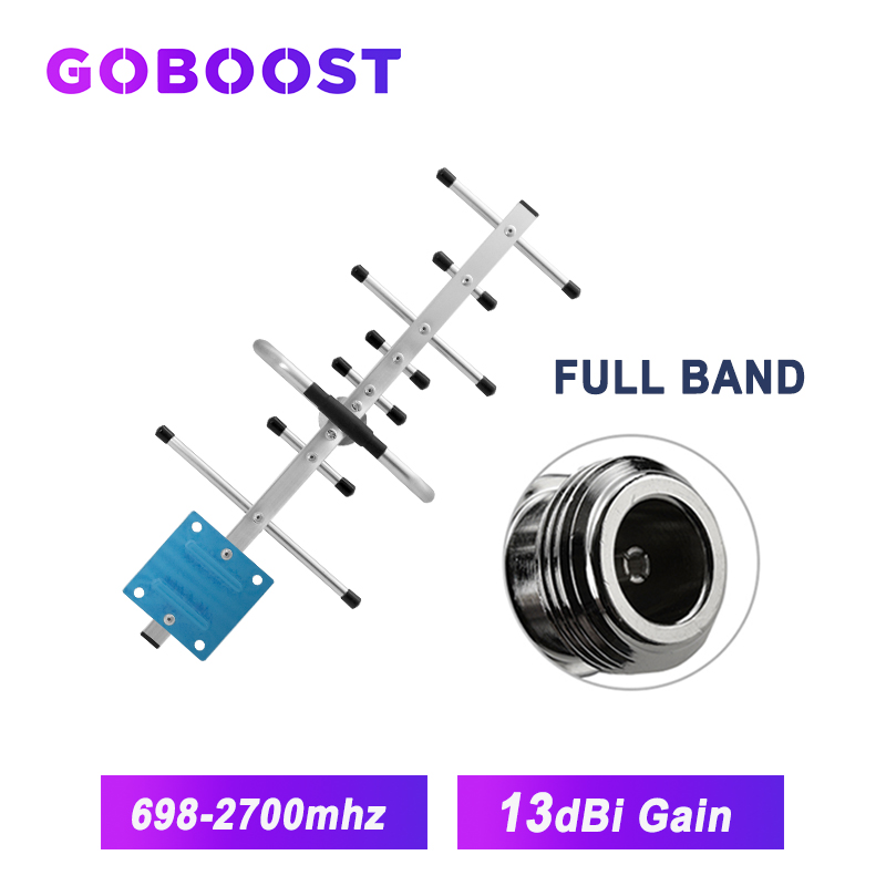 GOBOOST Amplifier 4g Yagi Antenna Gsm 2g 3g 4g Antenna For Cellular Signal Booster Of Mobile Phone 2g 3g 4g Gsm Repeater 13dbi