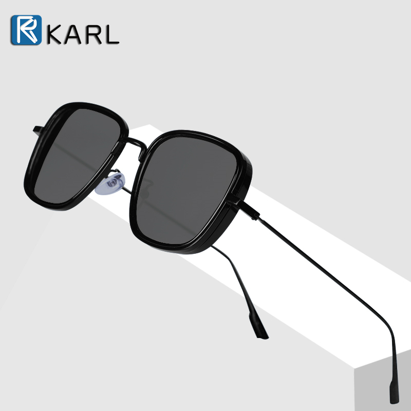 Retro Square Sunglasses Men Tony Stark Sun Glasses Luxury Brand Designer Steampunk Sunglasses Red Black Sunglass Women UV400