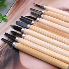 10 pcs Set Hand Wood Chisels Carving Knife For Basic Woodcut Working Tool New 6 pcs set hand carving tools chisel woodcut chip part costume for art knife seal cutting wood working tool free shipping