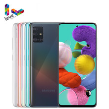 Samsung – Smartphone Galaxy A51 A515F débloqué, téléphone portable, 6.5 pouces, 6 go de RAM, 128 go de ROM, Octa Core, NFC, 4 caméras, 48mp, Android 10
