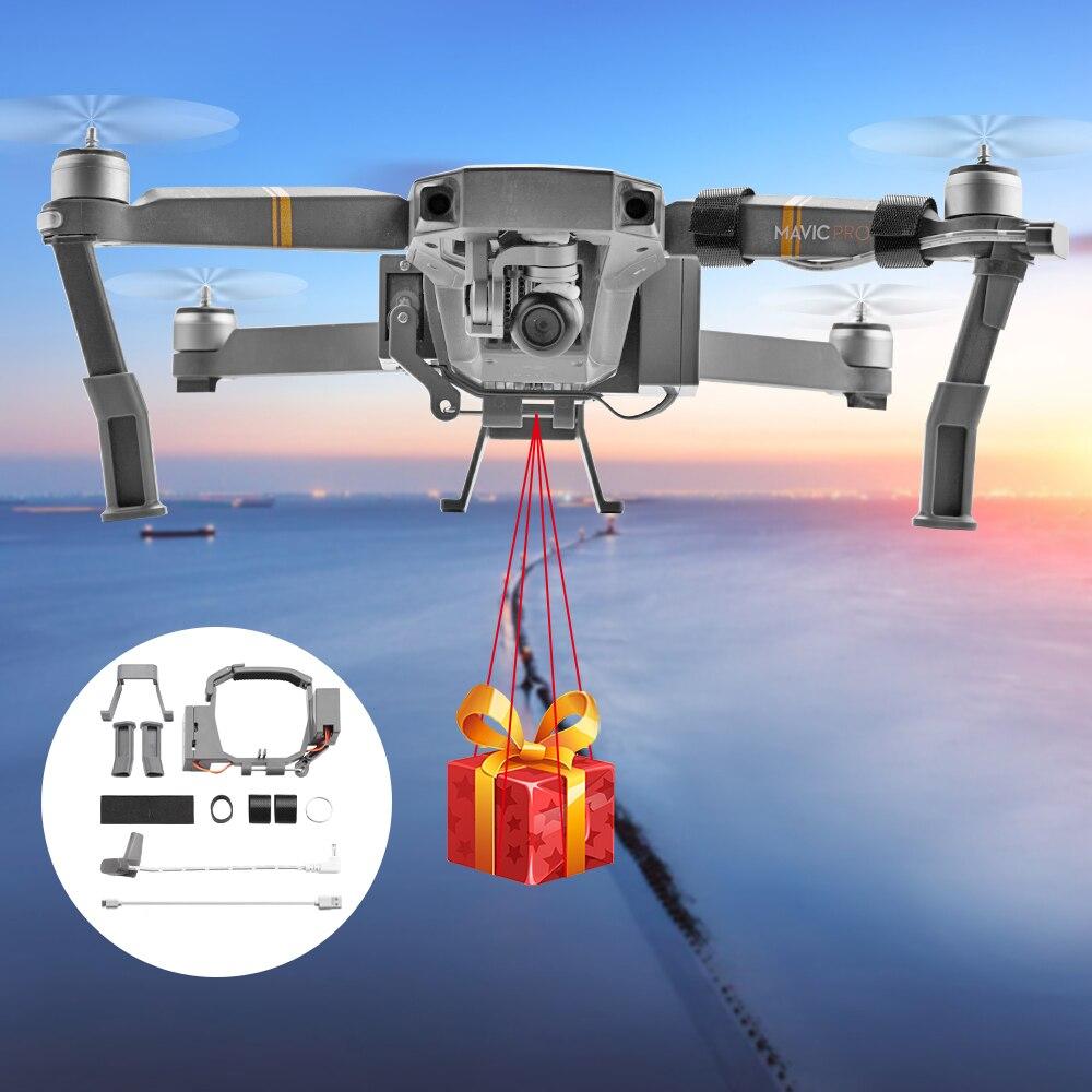 Tüketici Elektroniği'ten Drone Aksesuarları Kitleri'de Airdrop hava damla sistemi DJI Mavic Pro için Mavic2 pro zoom Drone balıkçılık Bait yüzük hediye teslim hayat kurtarma uzaktan atmak atıcı title=