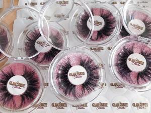 Image 5 - Mikiwi 25mm 50 pairs Free logo Mink Eyelashes Wholesale 16 styles round case custom packaging Label Dramatic 25mm 3D Mink Lashes
