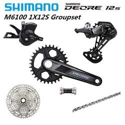 2020 nouveau SHIMANO DEORE M6100 170mm 175mm 32T groupe 12 vitesses manette de vitesse dérailleur arrière Cassette pédalier SunRace Z90 Cassette