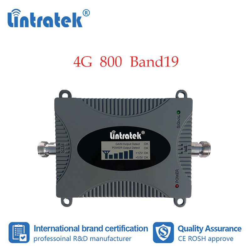 Lintratek Band19 LTE 800mhz Mobile Phone Signal Booster 4G 800 Cellphone Repeater Amplifier 4G Internet Data Use For Japan #7-1