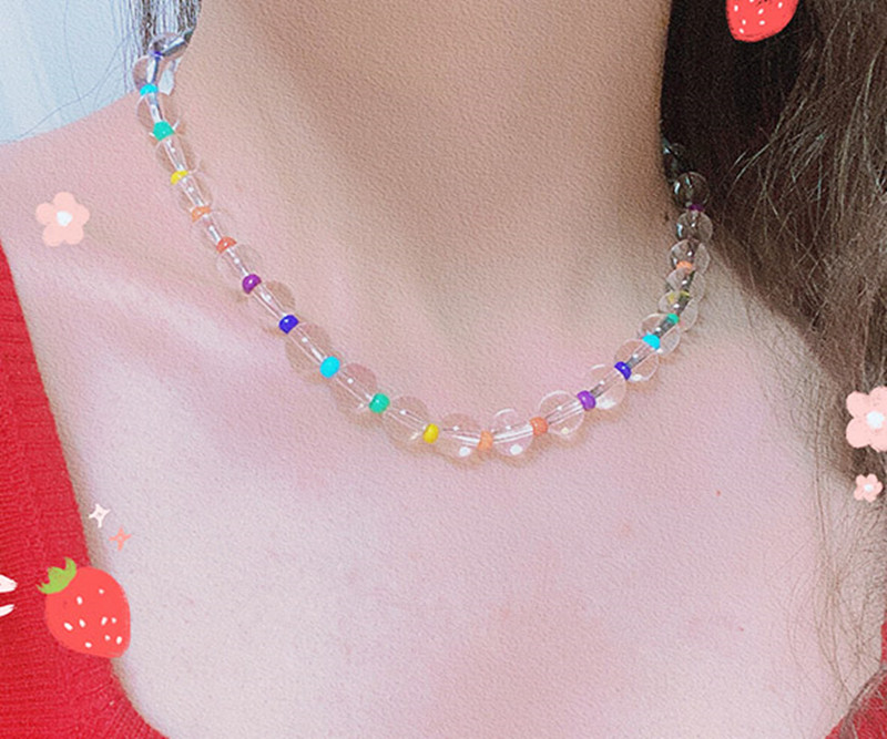 Hangzhi-2020-New-Korean-Colorful-Clear-Transparent-Acrylic-Crystals-Beads-Choker-Necklace-Bracelets-for-Women-Girls