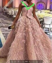 XUANDREAM foto Real bestidos de gala vestido debutante corto vestido de bola plumas vestidos de graduación para ocasión especial vestidos XD157