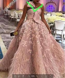 Image 1 - XUANDREAM foto Real bestidos de gala vestido debutante corto vestido de bola plumas vestidos de graduación para ocasión especial vestidos XD157