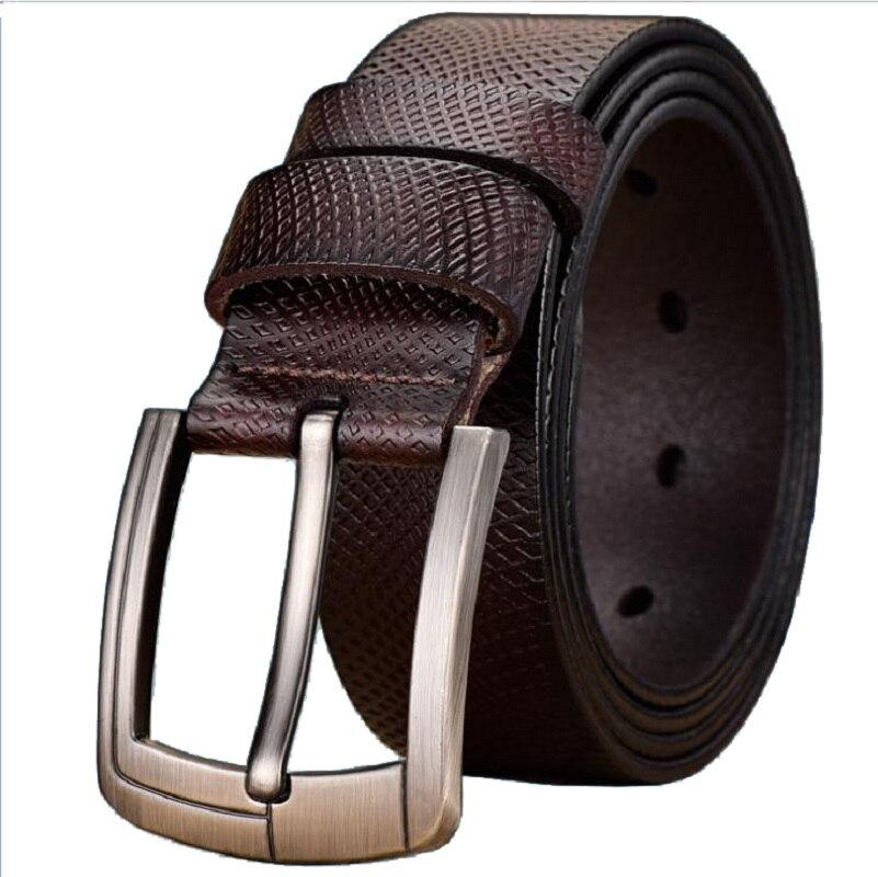 Men's Leather Belt Casual Business Belt Men's Men's Leather Strap Luxury Pin Buckle Fancy Retro Jeans