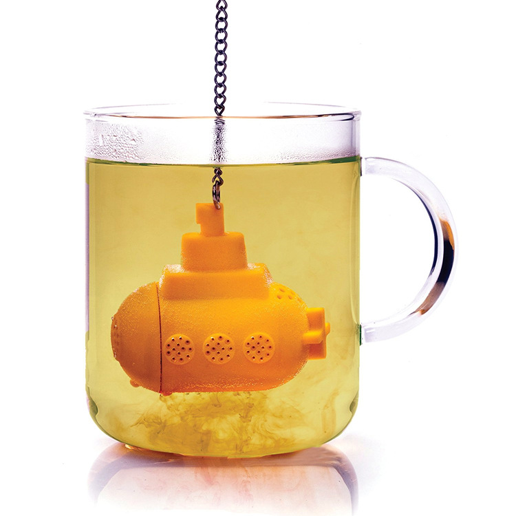 Creative Silicone Tea Maker Silicone Submarine Tea Set Submarine Modeling Tea Strainer Exquisite Gift Box