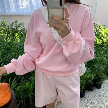 Pink Hoody Womens Wide legged Pants Summer Hooded Sweatshirts Spring Fleece Oversize Hoodies Women Fleeces Leather Pants Short 1