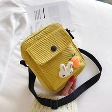Bag female 2020 new Korean popular wild corduroy small square bag fashion girl shoulder messenger bag