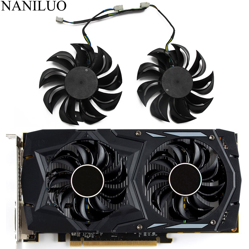 GA81B2U -PFTC 0.38A 75mm RX560 RX460 For Dataland POWERCOLOR RX 460 550 560 Red Dragon OC V2 Graphics Card Cooler Cooling Fan image