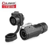 Cnlinko 2 3 4 5 6 7 8 Pin M12 водонепроницаемые промышленные разъемы, кабель питания IP65, штепсельная вилка переменного/постоянного тока, гнездовые розе...