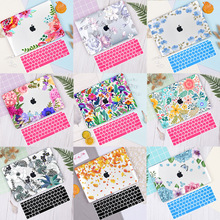 Redlai Floral Print Hard Case Cover For Apple Macbook Pro Retina 12 13.3 15.4 Air 11 13 inch New Pro 13 15 Touch bar A2159 Shell все цены