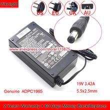 Oryginalne 19V 3 42A 65W ADPC1965 ADS-65LSI-19-1 LCD Adapter monitora dla PHILIPS 224E5Q 1965ADPC 247E4QSD 247E4QHSD 272S4L 284E5Q tanie tanio viknight CN (pochodzenie) 19 v Uniwersalny 1 x UK Power Cord 5 5x2 5mm 2 Years 100-240V~1 5A 50-60Hz Original Genuine laptop ac adapter