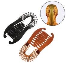 1 шт. Женщина резинки волосы плетение банан зажим скорпион тип волосы удерживание инструмент хвост резинка резинки волосы аксессуары