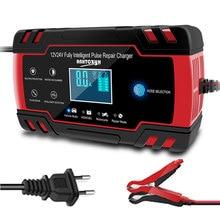 12v 24v 8a display lcd pulso carregador de bateria de carro ferramenta de reparo, marca superior chumbo ácido bateria carro motocicleta caminhão carregador de bateria