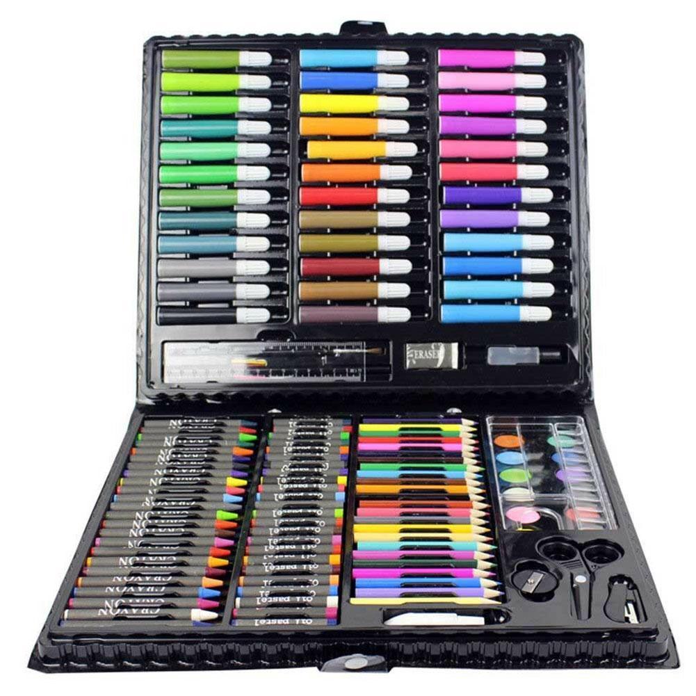 150 Pcs Kids Art Set Children Drawing Set Water Color Oil Set Drawing Painting Pen Supplies Stationery Art Pastel Crayon To V8B9