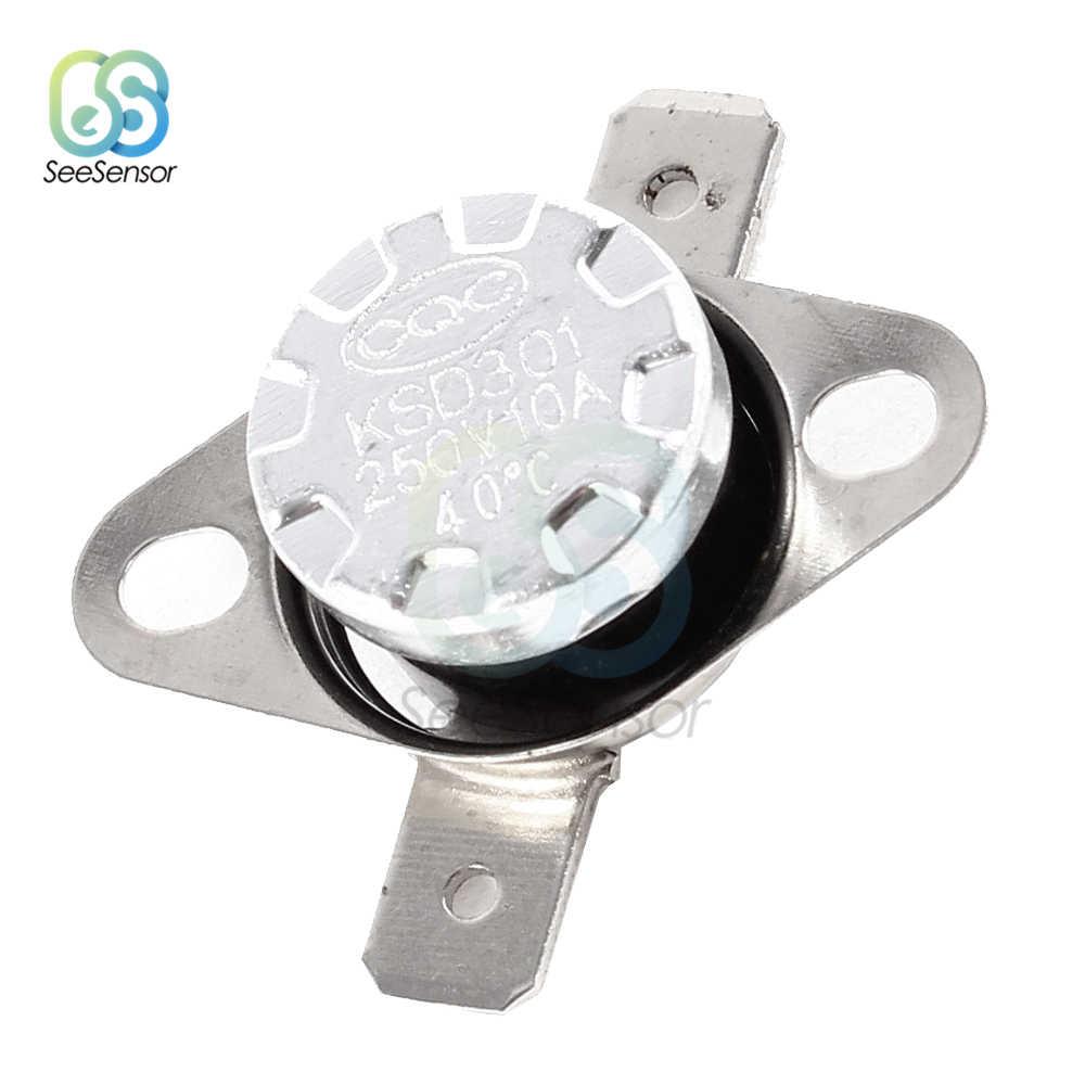 KSD301 250V 10A Normaal Open/Normaal Gesloten Thermostaat Temperatuur Thermische Schakelaar DegC 30-130 Celsius graden